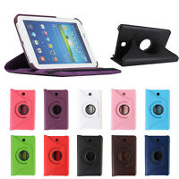 For Samsung Galaxy Tab4 7Inch Tablet T230 Leather Case Rotating 360 Case Cover T