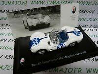 MAS37S voiture 1/43 LEO models MASERATI TIPO 60 targa Florio 1960 Maglioli