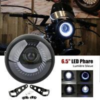 """6.5 """" Moto Phare LED Lampe Hi/Lo Faisceau avec Support pour Harley Café Course"""