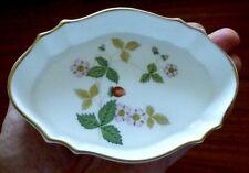 "Wedgwood Wild Strawberry Bone China Silver Tray 5"" Candy Nut Dish Trinket Bowl"