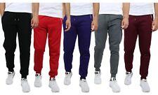 Mens Fleece Jogger Sweatpants With Zipper Pockets Slim Fit Warm Lounge Gym NWT