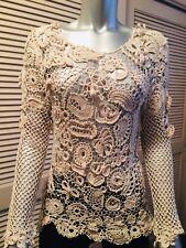 Irish Lace Blouse M Handmade