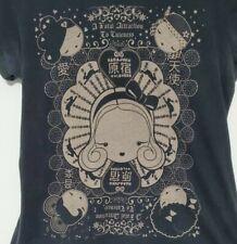HTF HARAJUKU LOVERS tee t-shirt top SIZE LARGE black Gwen Stefani L.A.M.B.