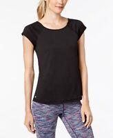 Ideology Womens Cutout-Back T-Shirt Black