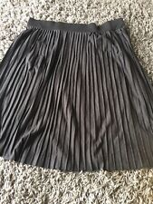 Simply Be Pleated Skirt In Black Size 24