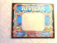 "MERIT RIVIERA ARCADE VIDEO GAME BACK-"" GLASS""--NOT PLASTIC-24""x19.5""-MINT"