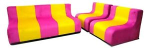 Sofa And Pair Of Armchairs Sofo Poltronova Design superstudio 1966 Vintage