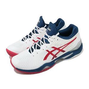 Asics Court FF 2 Novak Djokovic White Blue Red Men Tennis Shoes 1041A083-102