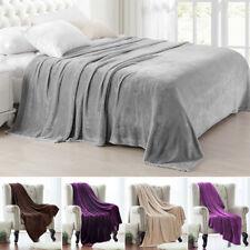 Soft Mink Faux Fur Throw Fleece Warm Large Sofa Bed Blanket Double