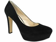 INC International Concepts Women's Anton Platform Pumps Black Suede Size 8.5 M