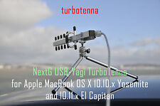 Nextg USB-Yagi turbotenna Wi-Fi Booster Antenna Kit per Apple MacBook EL CAPITAN