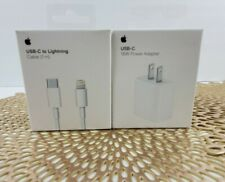 18W Fast Charger USB-C Adapter Cable iPhone 11 Pro Max Original Genuine 0em