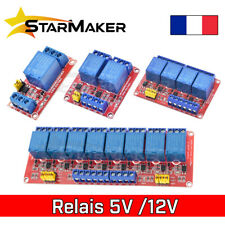 Module relais 5V 12V - 1 2 4 6 8 canaux - High + Low level Optocoupleur Arduino