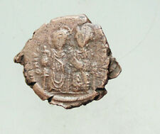 Justin Ii, with Sophia. 565-578. Æ23mm 6,7g 20 Nummium Follis