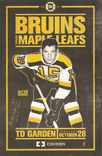 Boston Bruins lineup poster 11 x 17 MILT SCHMIDT NIGHT SIGNED AUTOGRAPHED COA