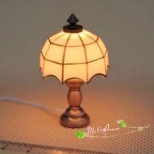1/12 dollhouse miniature desk table lamp 12 volt working light