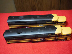 Life-Like Lot of (2) HO Scale Rio Grande Diesel Locomotives #'s 600 & 601 Parts