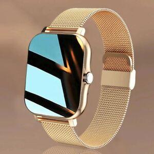 "2021 New Women Smart Watch Men 1.69"" Color Screen Full touch Fitness Tracker Men"