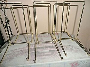 6 TOP QUALITY  BRASSED PLATE STANDS  size 6
