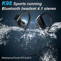 K98 Waterproof Wireless Bluetooth Shock Bass Stereo Sport Headset Headphone NEW