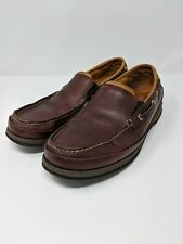 Sperry Top Sider Gold Cup Mens Boat Shoe Size 9.5 M Brown Leather Slip On Loafer