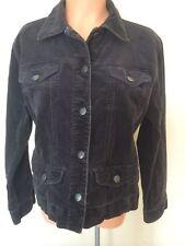 Women's Chico's Cotton Blend Button Front Brown Corduroy Jacket Size 1