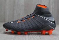 38 Nike Hypervenom Phantom 3 Elite DF FG Grey Soccer Cleat 6.5 -11.5 AH7270-081