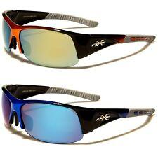 X-LOOP NEW MENS LADIES RED BLUE WRAP SPORTS SEMI RIMLESS UV400 SUNGLASSES XL2493