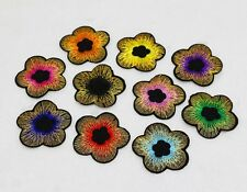 Hot 10pcs Embroidered Cloth Iron On Patches Sewing Motif Applique flower Pattern