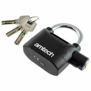 Amtech T2310 Heavy Duty Alarm Padlock - Silver