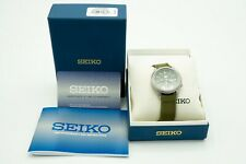 Seiko 5 SNK805 Green Dial Automatic Field Watch Green Nylon Strap