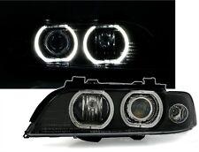 2 FEUX PHARE AVANT ANGEL EYES LED BMW SERIE 5 E39 ELECTRIQUE NOIR POUR XENON D2S