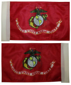"""6""""x9"""" 6x9 Marines Marine USMC Nylon Boat Motorcycle Double Sided Sleeved Flag"""