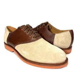 POLO RALPH LAUREN Mens Orval Suede Oxford Lace Up Shoes Beige Brown (MSRP $165)