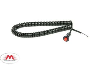 Motion Raceworks Momentary Small Push Button w/6' Wound Cord - Red
