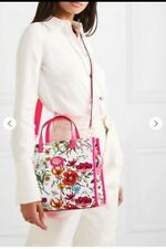 New floral Gucci handbag with pink leather trim