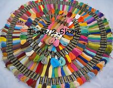 100 nueva presentadora sólido Stitch madejas de hilo de algodón bordado de hilo Color Surtidos