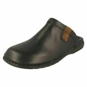 Mens Rieker Casual Leather Slip on Mule Slippers 25598