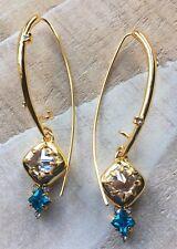 Alexis Bittar Blue Crystal Earrings