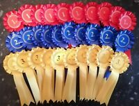 10 sets of 1st - 3rd  - 30 Rosettes Dog/Horse Show Event *FREE POSTAGE*