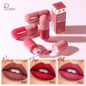 Pudaier Long Lasting Lip Tint Gloss Waterproof Glazed Matte Lip Lipstick - UK