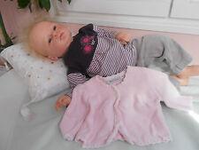 1hauts +gilet+ pantalon  pour  bébé 3 mois ou poupée reborn,baigneur 55cm