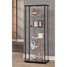Coaster Home Furnishings 950170II Curio Cabinet Black-950170 NEW