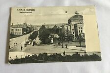 More details for vintage victorian fold out postcard christiania norway national theatre