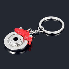 Metal Auto Parts Disc Brake Keychain Hub Calipers Key Ring Chain Pendant Gift