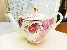 Wedgwood China Tea Story BUTTERFLY BLOOM Teapot - NEW / BOX!