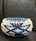 Fine Paiute Shoshone Beaded Willow Basket Jenny Dick Native American Miniature 6
