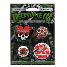 4er-Set Gore Kreepsville 666 Button