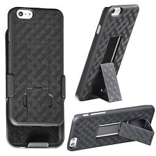 IPhone 6 6S 4.7 inch Wave Holster Bell Clip Case with Kickstand + Tempered Glass