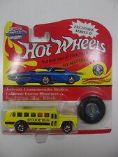 Yellow S'cool Bus Heavyweights Series Hot Wheels Redline 25th Anniversary school